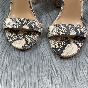 Steve Madden Shoes - Steve Madden Carrson snake skin heels size 7.5